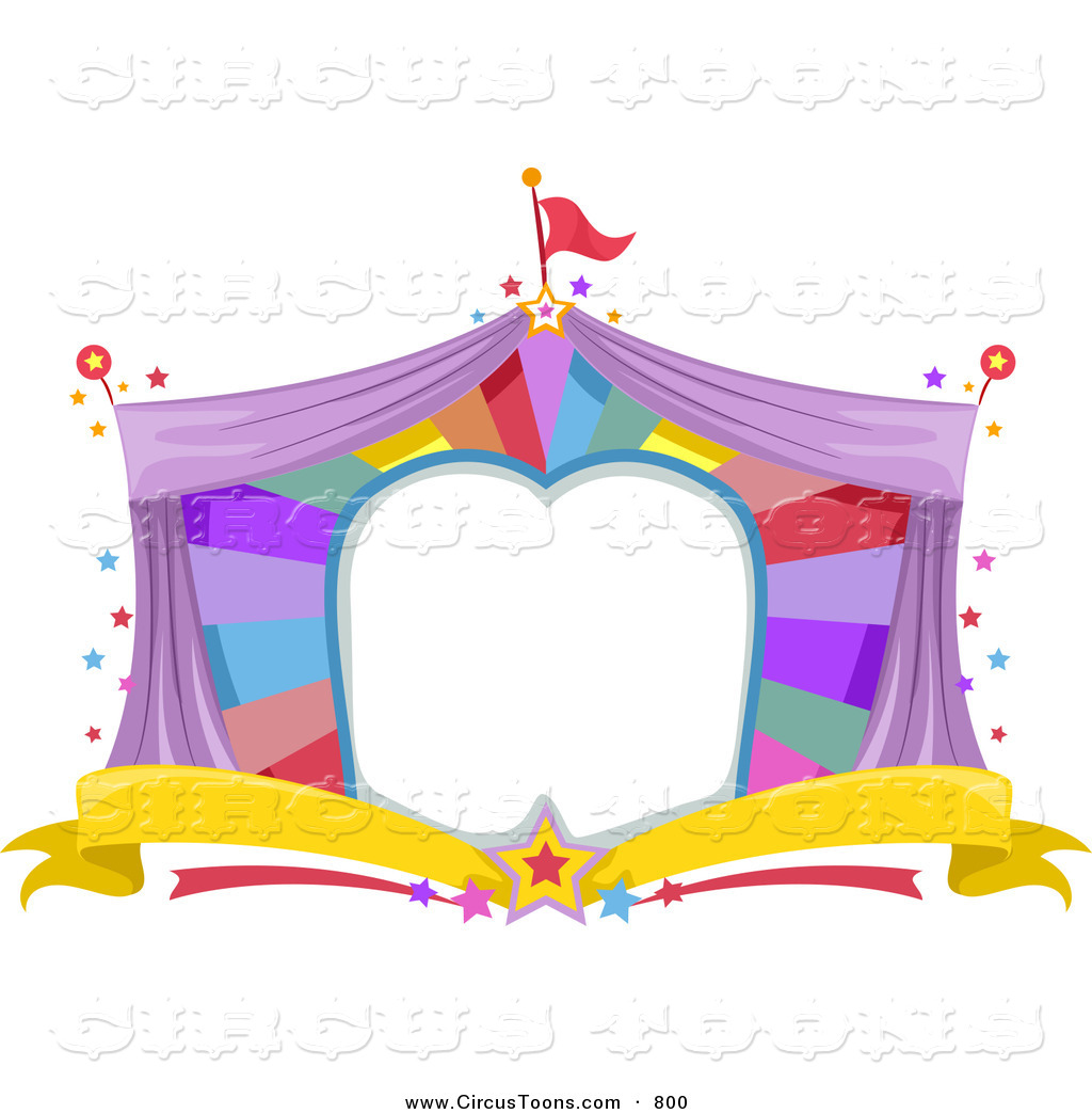 Circus Clipart of a Big Top Frame by BNP Design Studio.