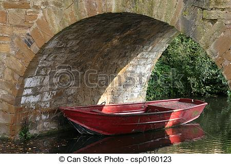 Stock Photos of Red boat.