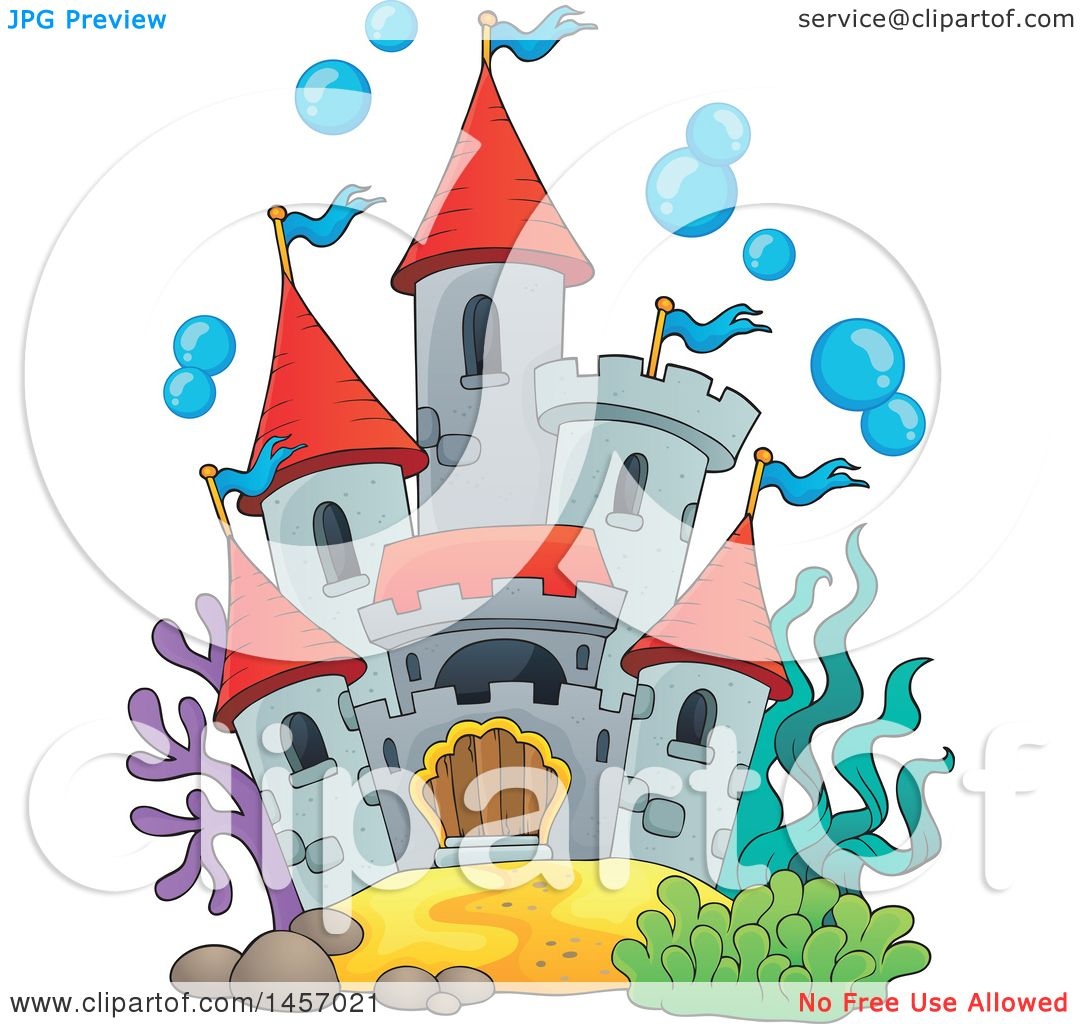 Fish Tank Castle Clipart.