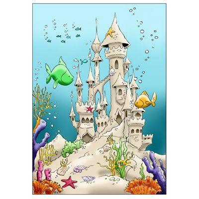 Castle clipart underwater, Castle underwater Transparent.