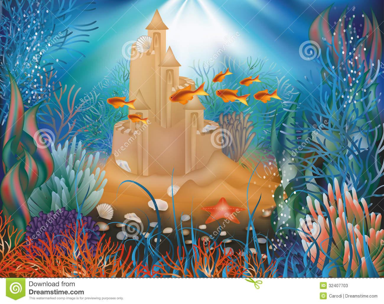 1872 Underwater free clipart.