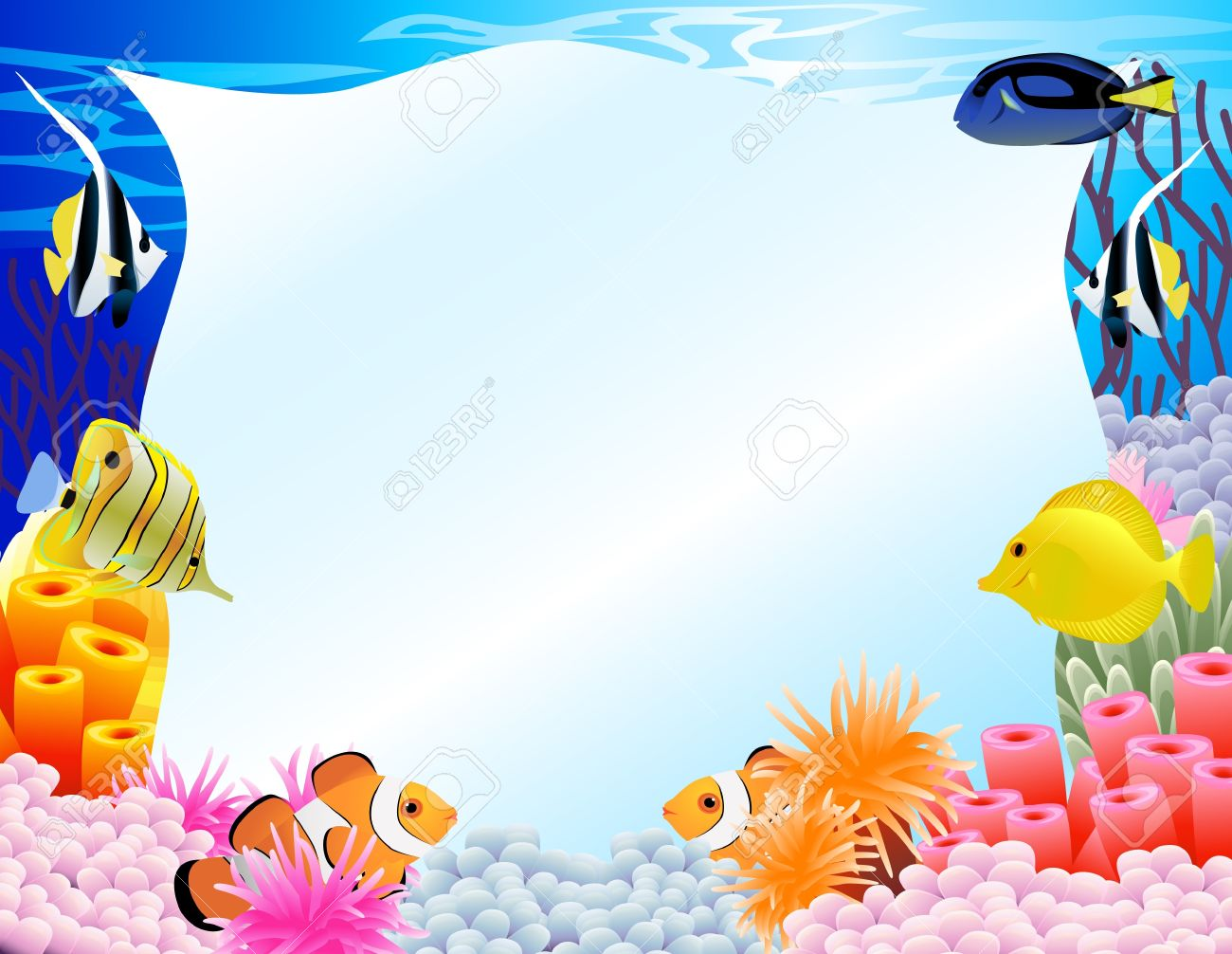 Under the sea background clipart 3 » Clipart Station.