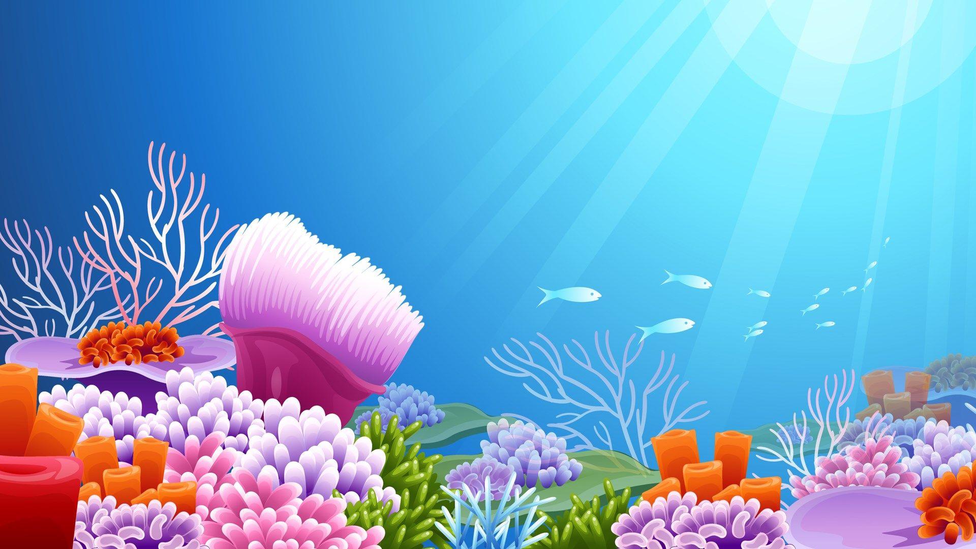 underwater free computer wallpaper.