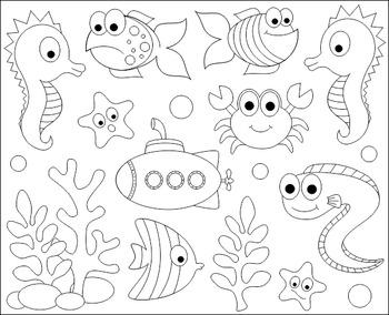 Under The Sea Clip Art.