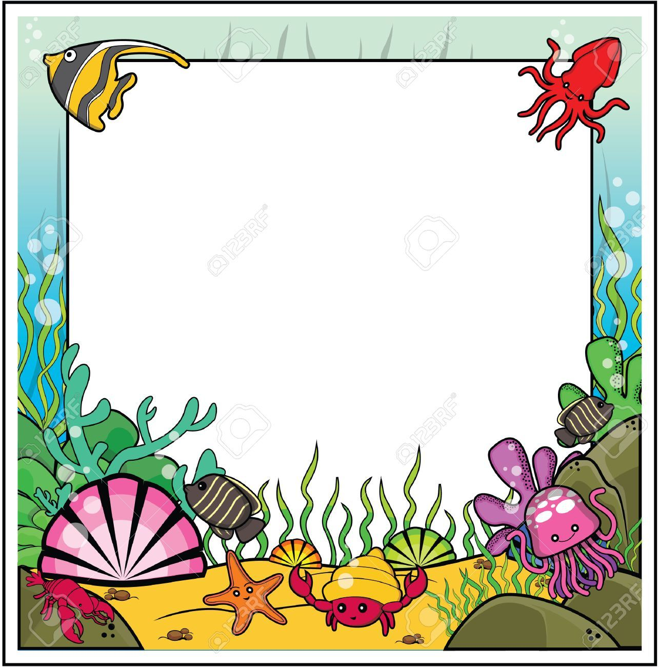 Under the sea border clipart 7 » Clipart Portal.