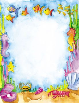 Under the sea clipart border 2 » Clipart Portal.