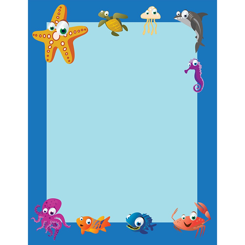 Under The Sea Border Paper 50 Pk.