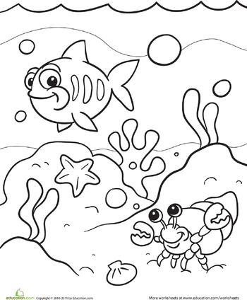 Under the Sea Coloring Page.
