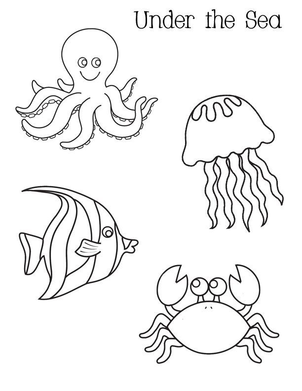 Under The Sea Coloring Pages For Preschool.