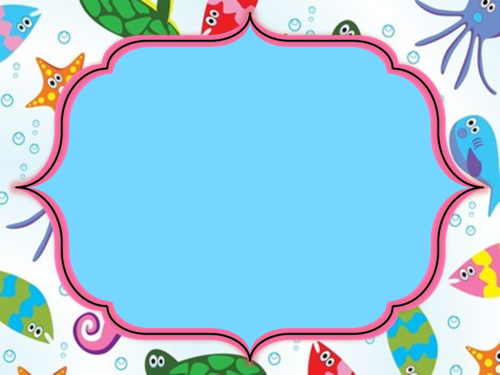 Under The Sea Clipart Frame.