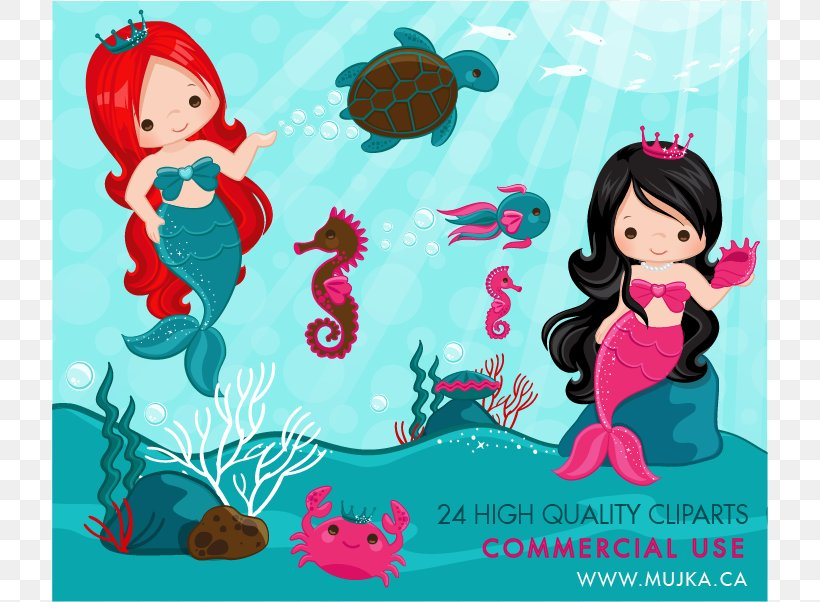 Ariel Mermaid Under The Sea Clip Art, PNG, 716x602px.