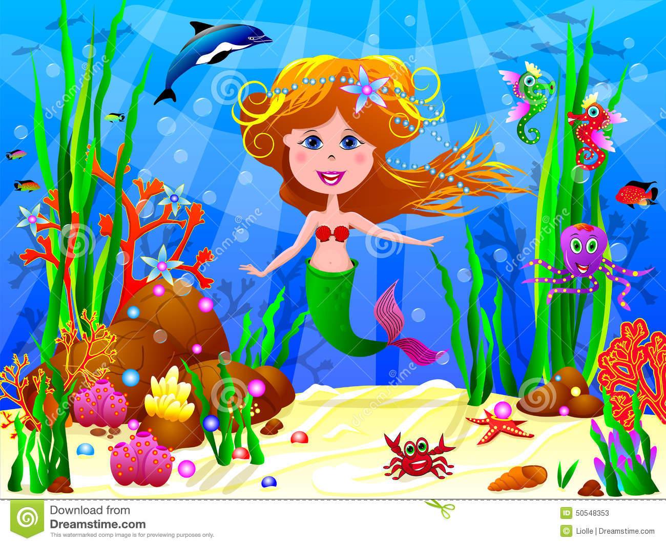 Little Mermaid Under The Sea Clipart.