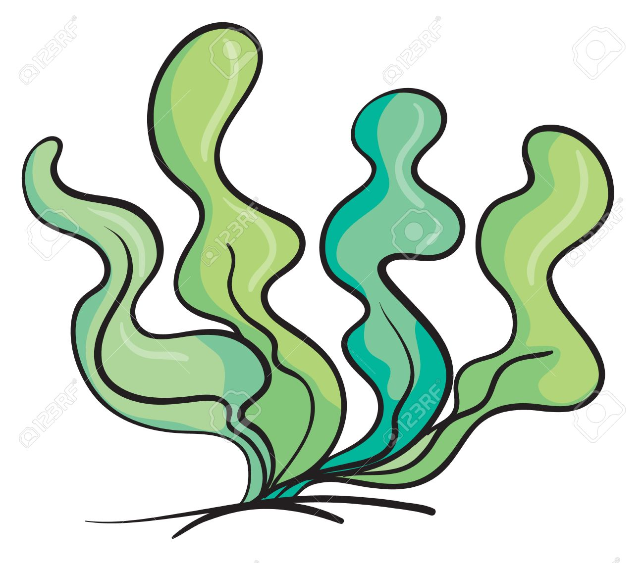 Under The Sea Plants Clipart.