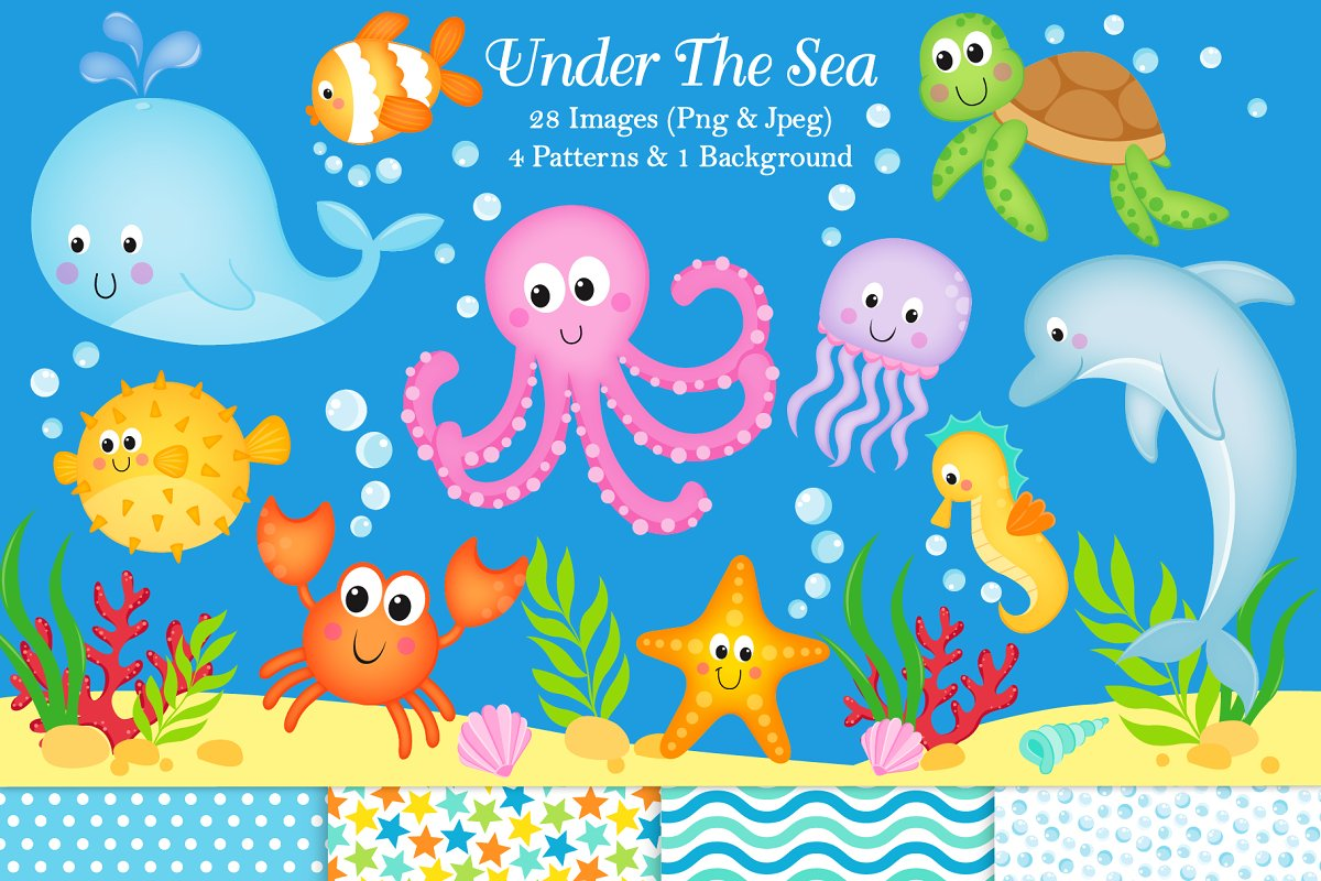 Under The Sea Clipart & Paper.