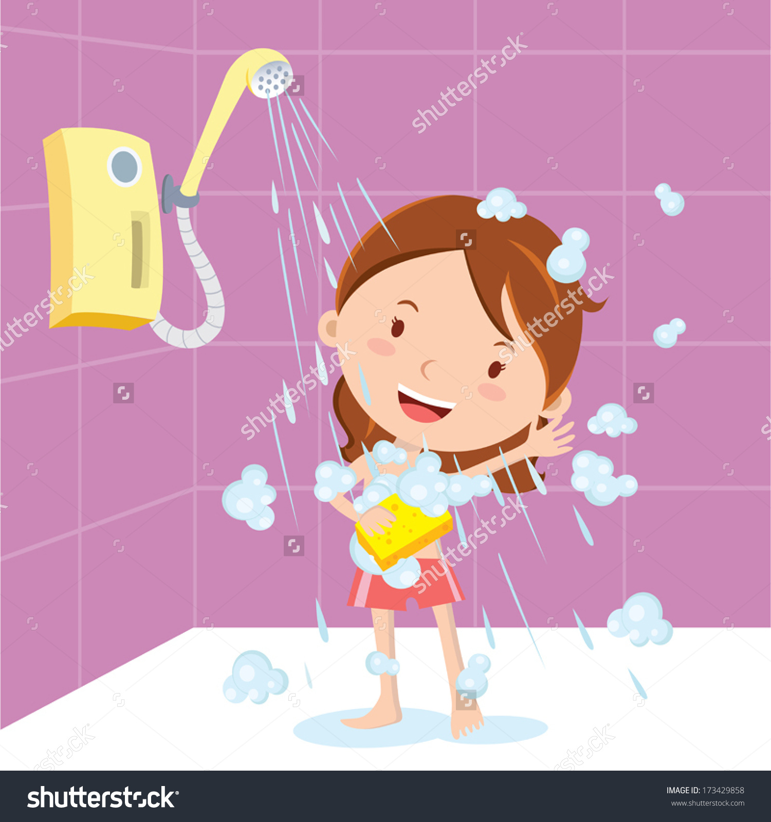 Showing post & media for Cartoon woman under shower.