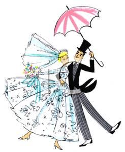 Bridal shower umbrella clip art.