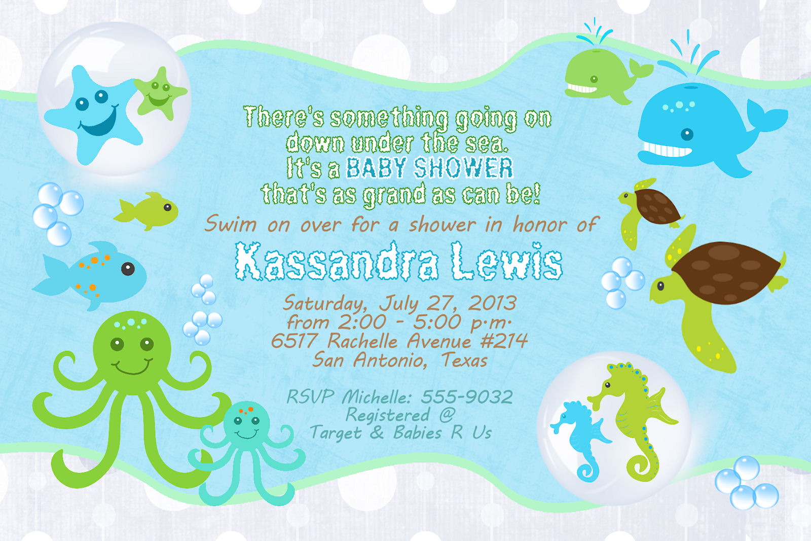 Baby sea turtle shower clipart.