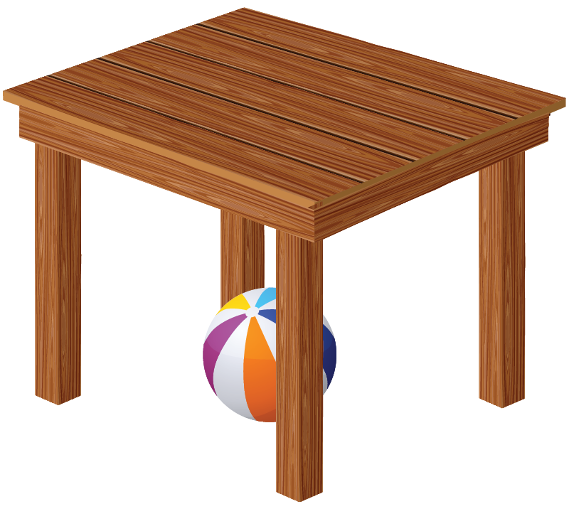 Ball Under The Table Clipart.