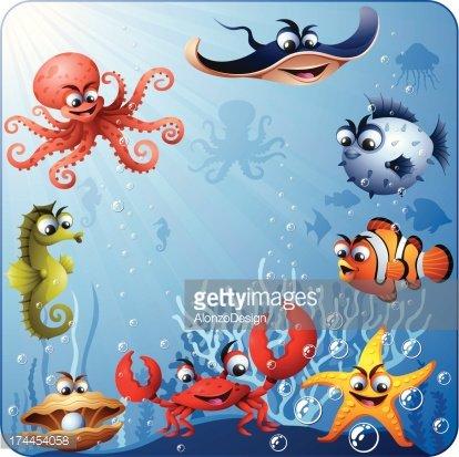 Underwater Scene Clipart Image.