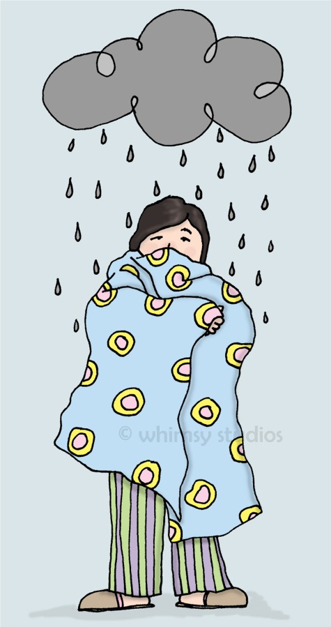 fresh picked whimsy: under the weather today.