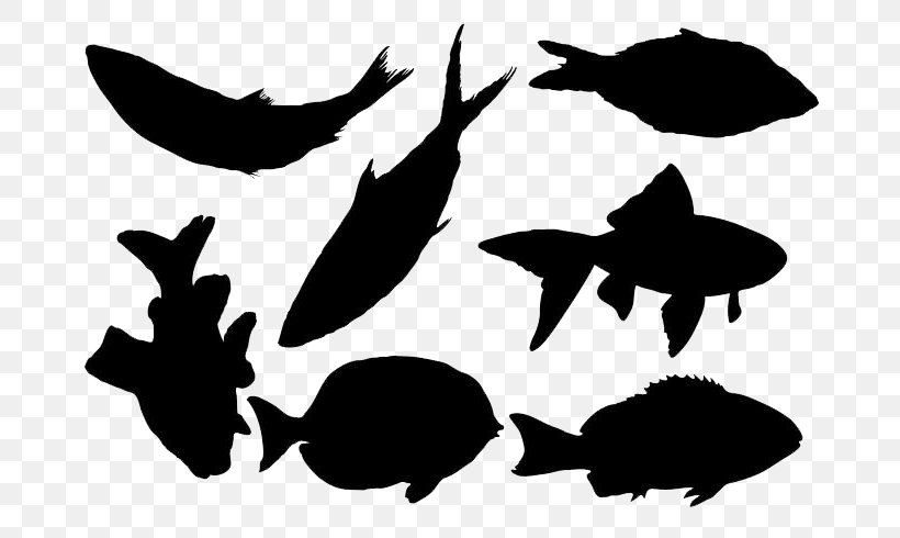 Silhouette Fish Clip Art, PNG, 700x490px, Silhouette, Bass.