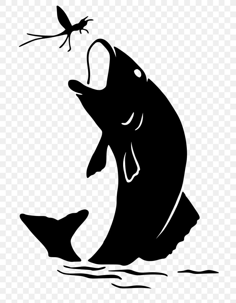 Silhouette Bass Fishing Clip Art, PNG, 744x1052px.