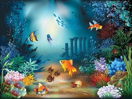 Underwater Clip Art, Vector Underwater.