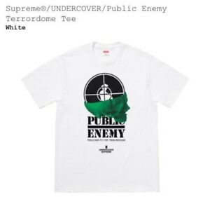 Details about Supreme/Undercover/Public Enemy Terrordome Tee White Large  CONFIRMED L Logo Box.