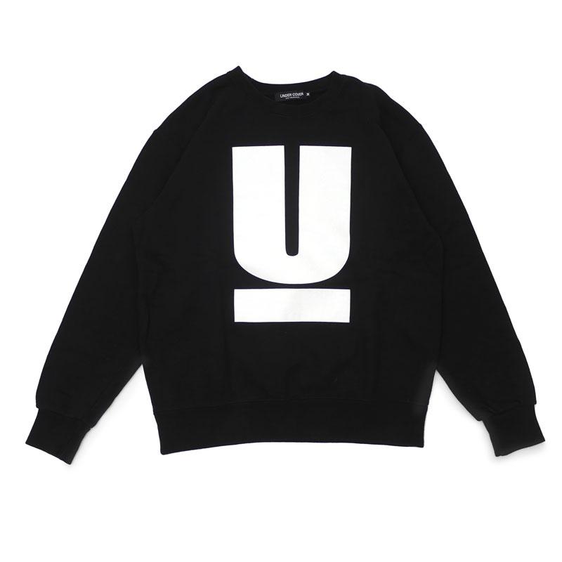 Under cover UNDERCOVER U LOGO SWEAT U logo crew sweat shirt BLACK black  black men medium size (SWT/HOODY).