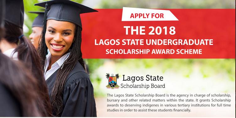 Lagos State Undergraduate Scholarship Award Scheme 2018 for.