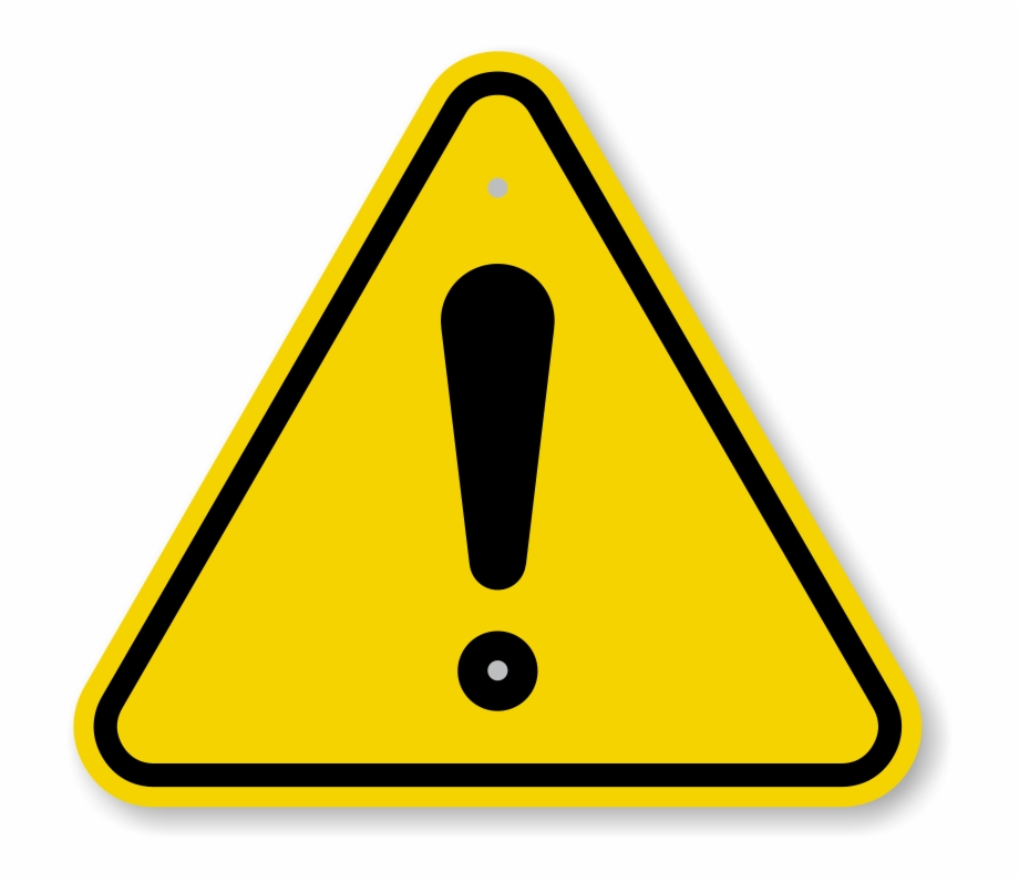 Iso Triangle Warning Sign.