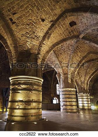 Stock Photo of Israel, Akko, the Hospitaller, Fortress the.
