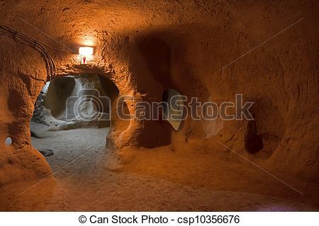 Picture of Underground city of Saratli, Turkey.