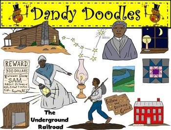 Underground Railroad Clip Art by Dandy Doodles.
