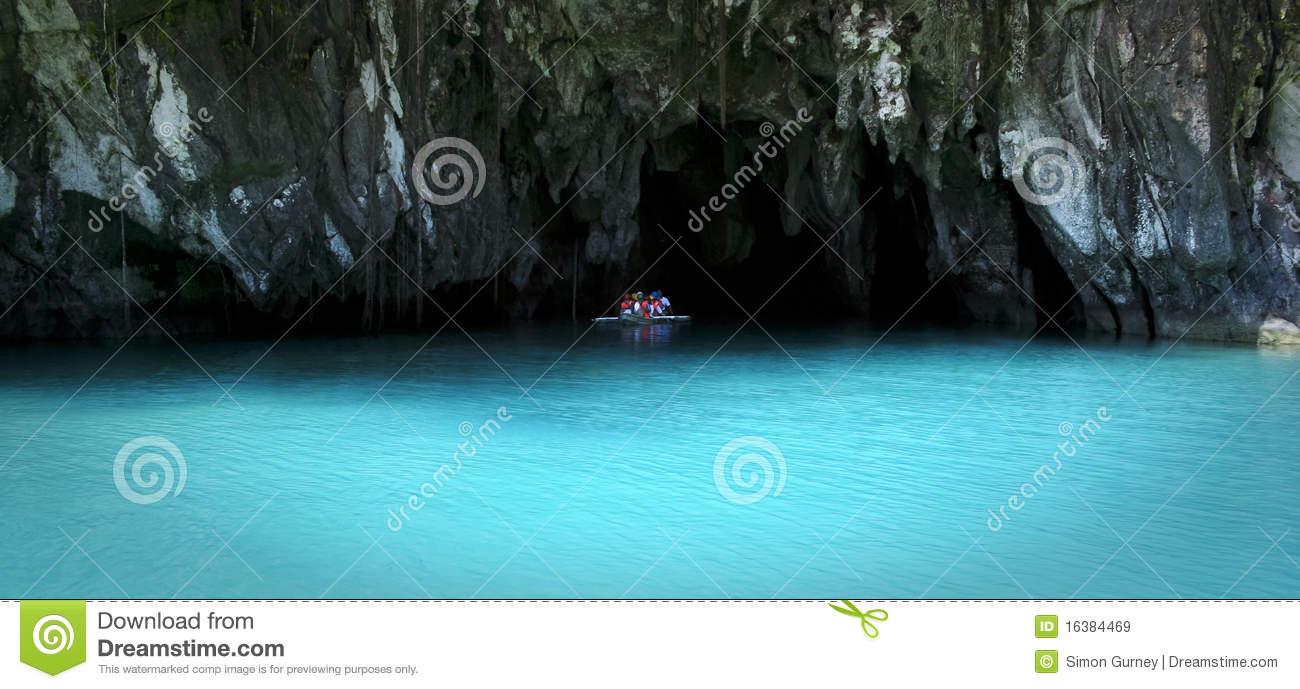 Underground River Sabang Palawan Philippines Royalty Free Stock.