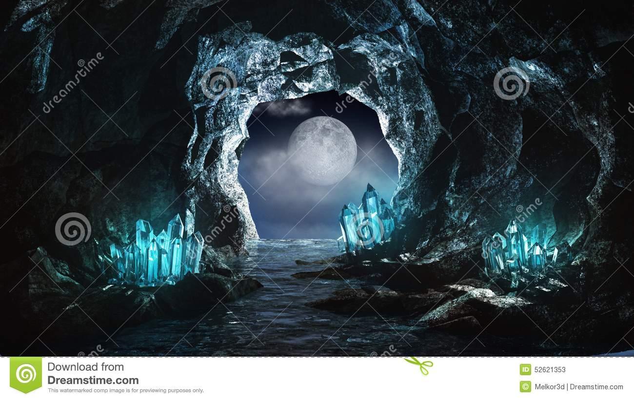 Underground River Stock Illustration.