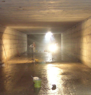 Flexcrete products used to repair water storage tank for.