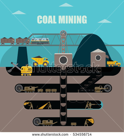 Underground Mining Stock Images, Royalty.