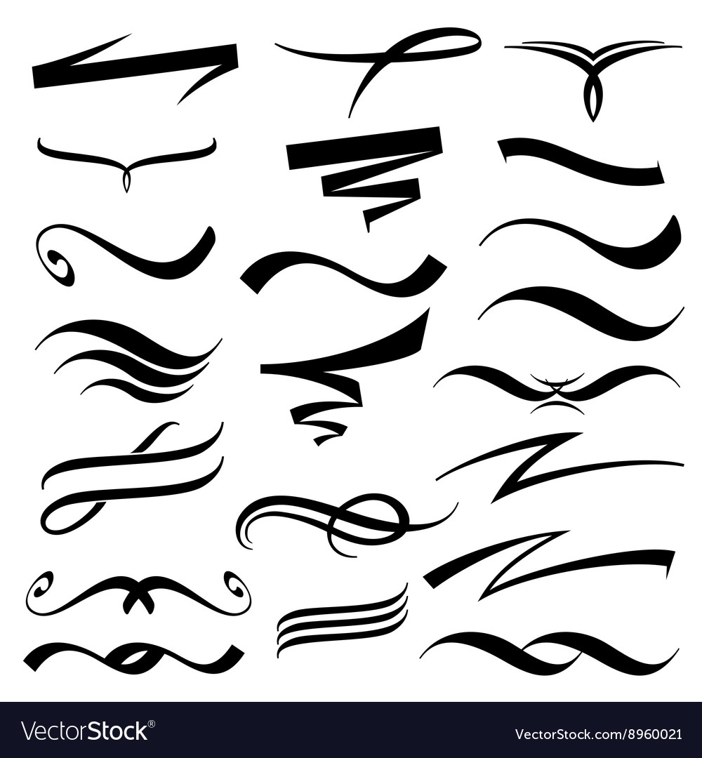 Lettering underlines collection.