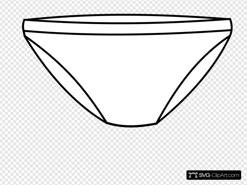 Plain White Undies Clip art, Icon and SVG.