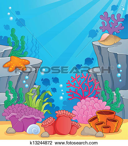 Clipart of Image with undersea topic 3 k13244872.