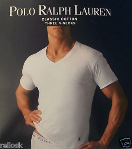 3 POLO RALPH LAUREN MENS COTTON WHITE V.