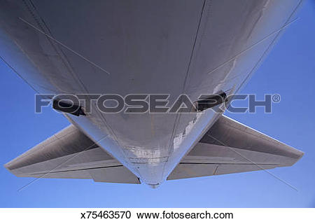 Stock Photography of Underside of airplane x75463570.