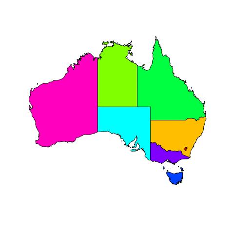 Australia Map Images.