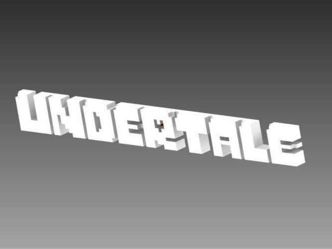 3D Printed Undertale logo by matt_lothe.