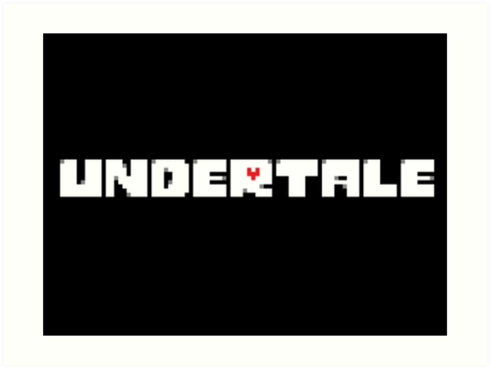 \'Undertale Logo\' Art Print by BasedPutnam.