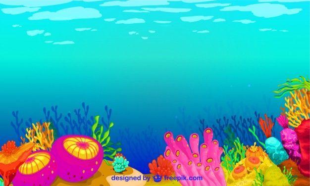 Underwater vector graphics.