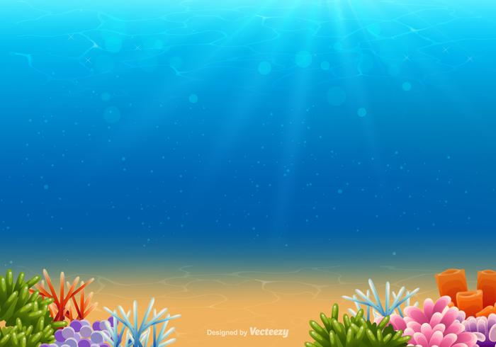 Underwater Vector Background.
