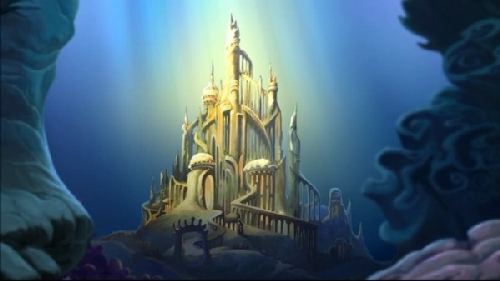 Underwater castle clipart.
