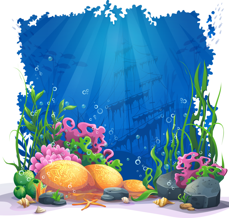 Clipart castle underwater, Clipart castle underwater.